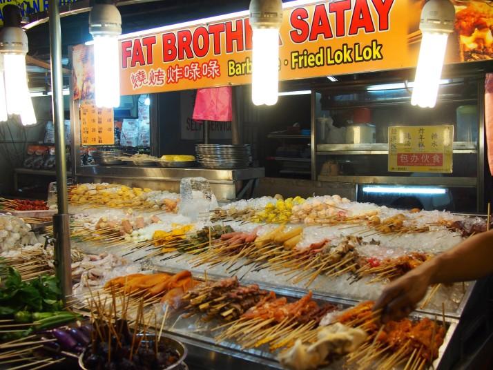 Satay street stall in Kuala Lumpur