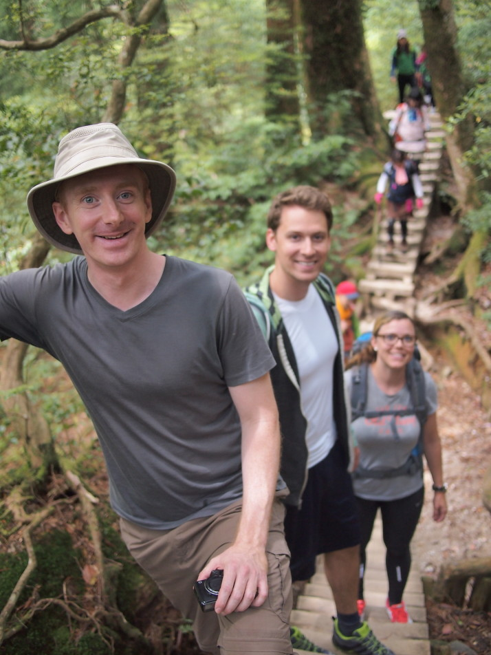 On the trail to Jomon Sugi