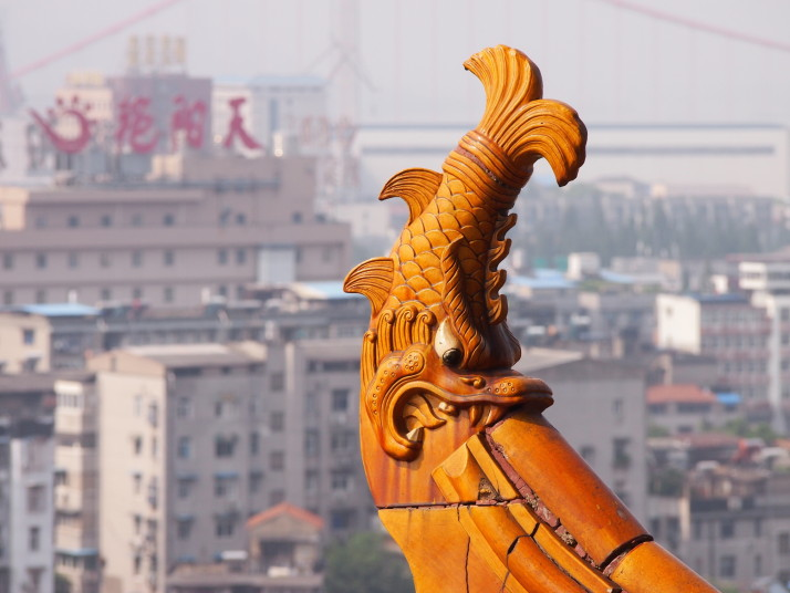 Yellow Crane Tower roof tile detail