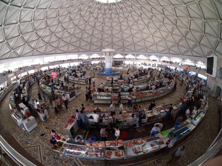 Inside Chorsu Bazaar