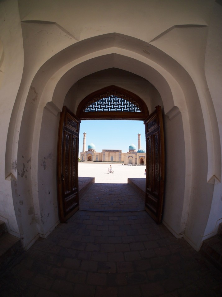 Looking through the entrance of Barak Khan Medressa