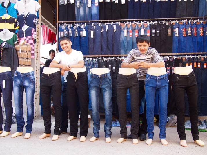 Jeans stall at Margilon Bazaar