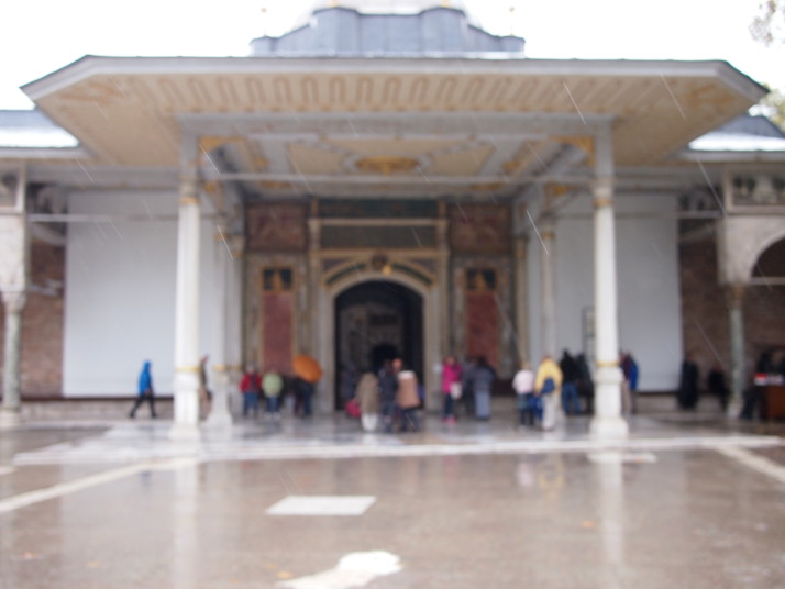 Topkapi Sarayi on a rainy day