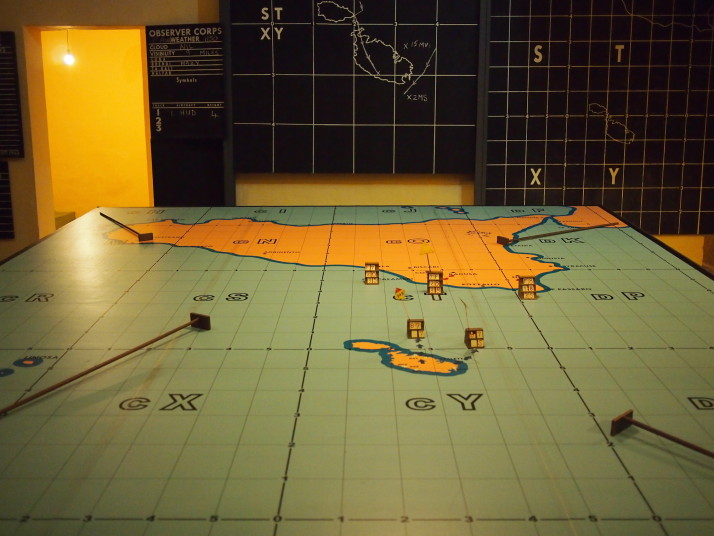 The defence command and situation room in the Lascaris War Rooms