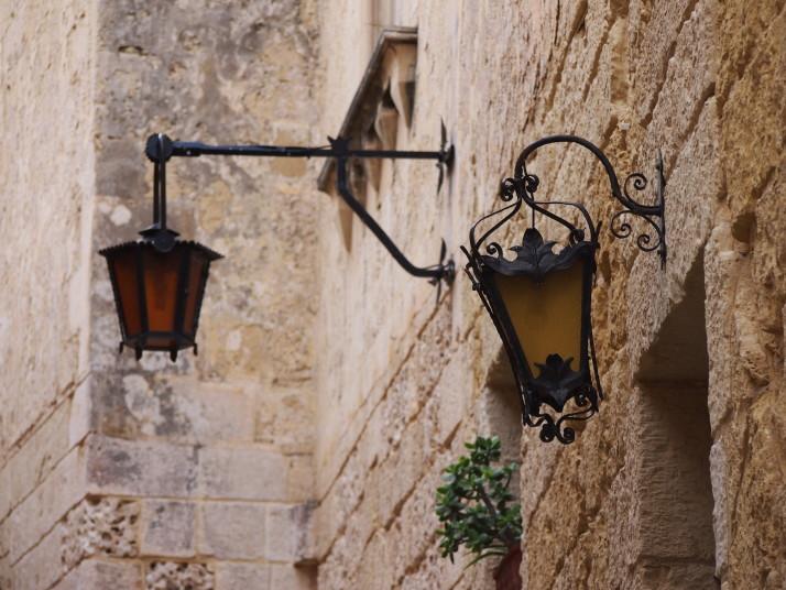Mdina street lamps