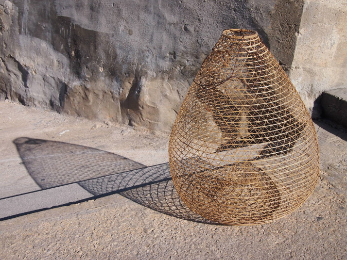 Traditional fishing basket