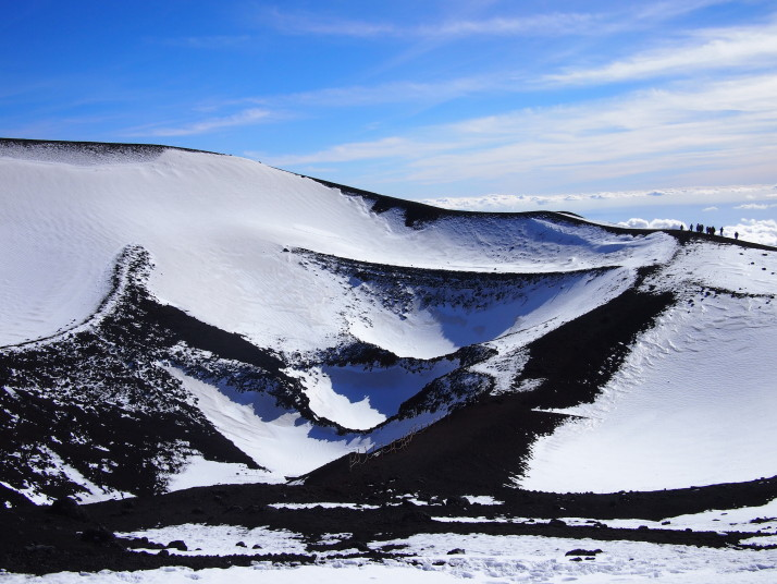 Crater on Mt Etna
