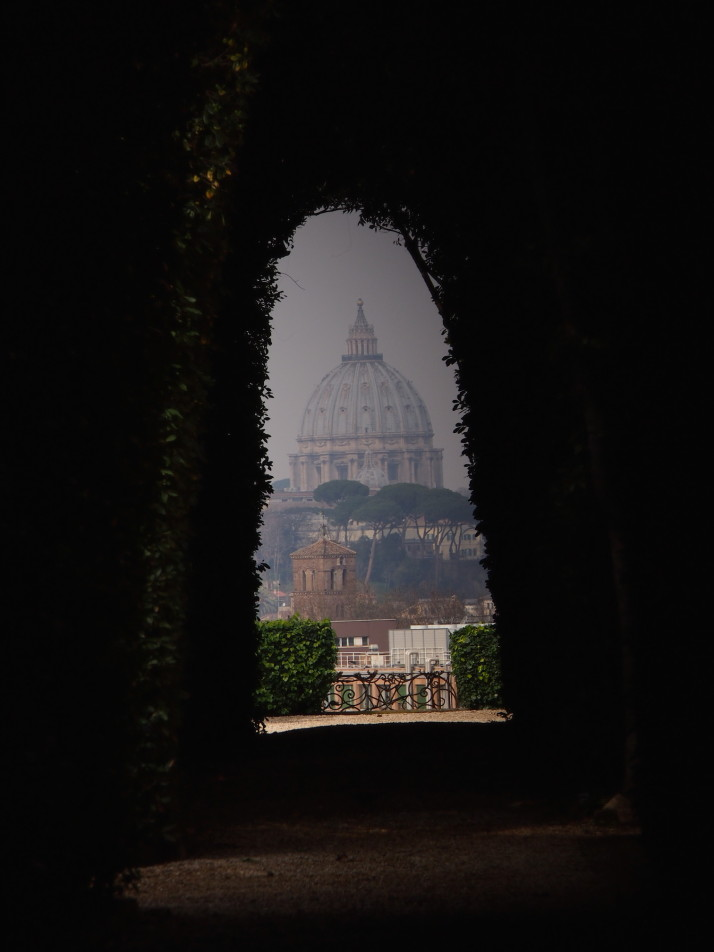 Dome of St Peter's Basilica through the keyhole