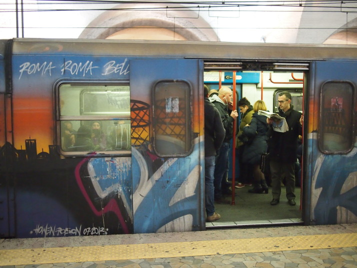 Rome metro train