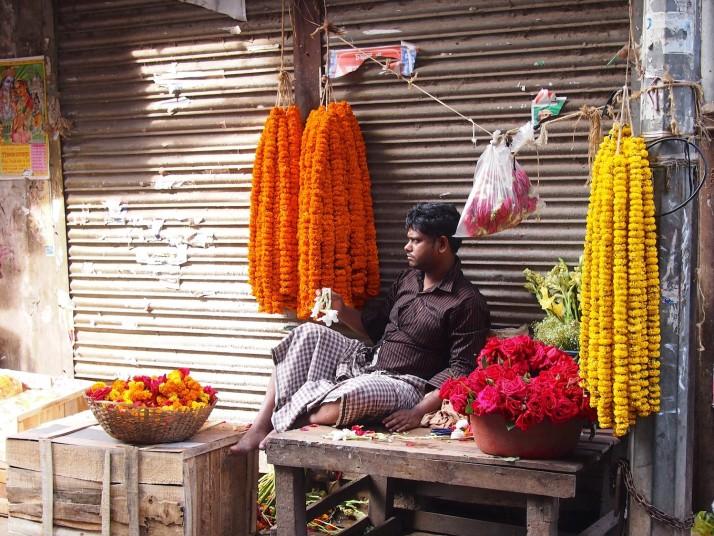 Flower vendor, Dhaka