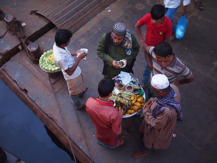 Street food vendor, Sadrghat