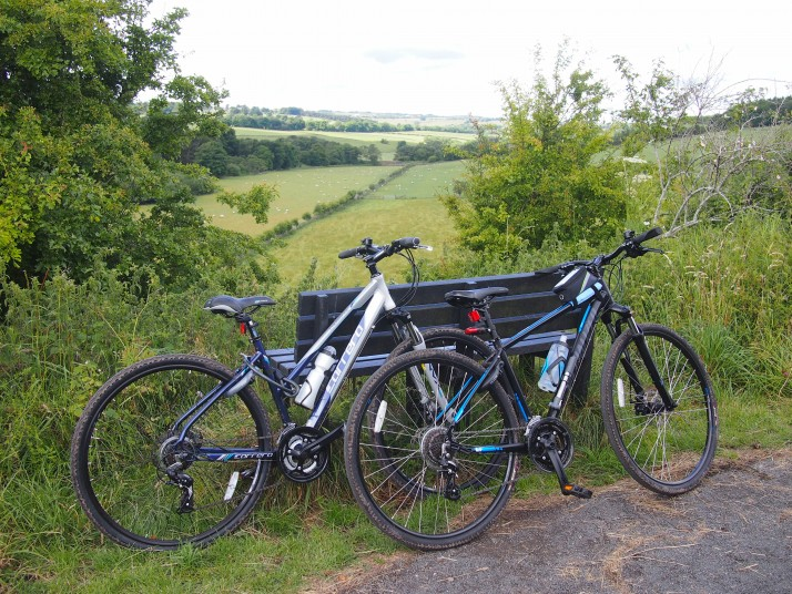 Bikes on Lanchester Railway Path