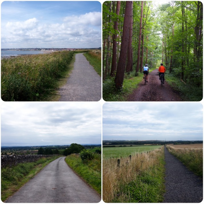 Cycle paths collage