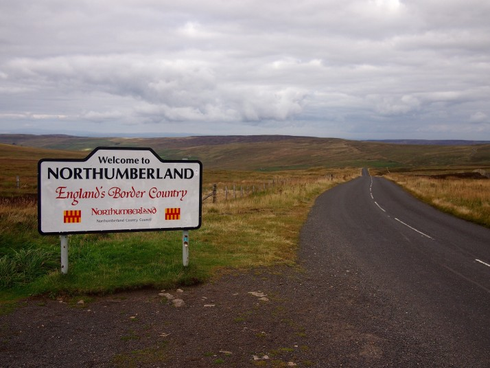 Scenery entering Northumberland on C2C