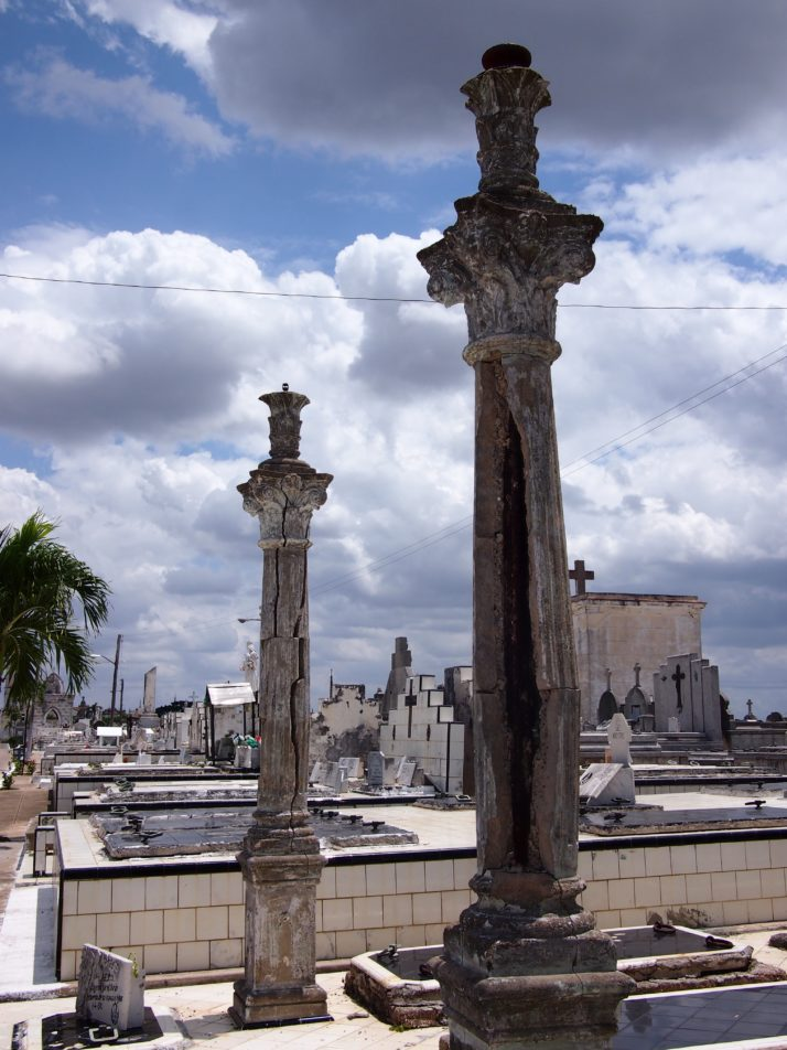 Camagüey cemetery columns