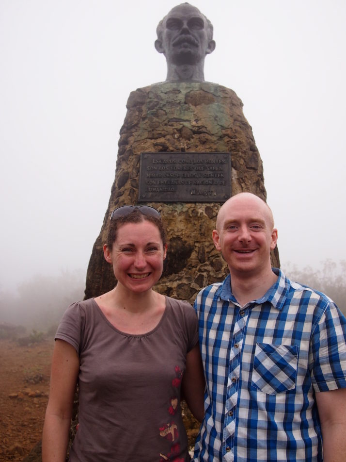 Us with Jose Marti at the top of Pico Turquino