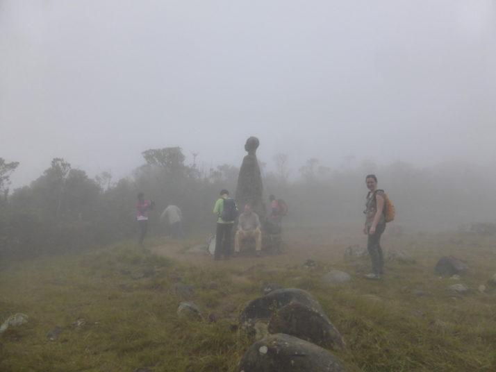 A very cloudy top of Pico Turquino