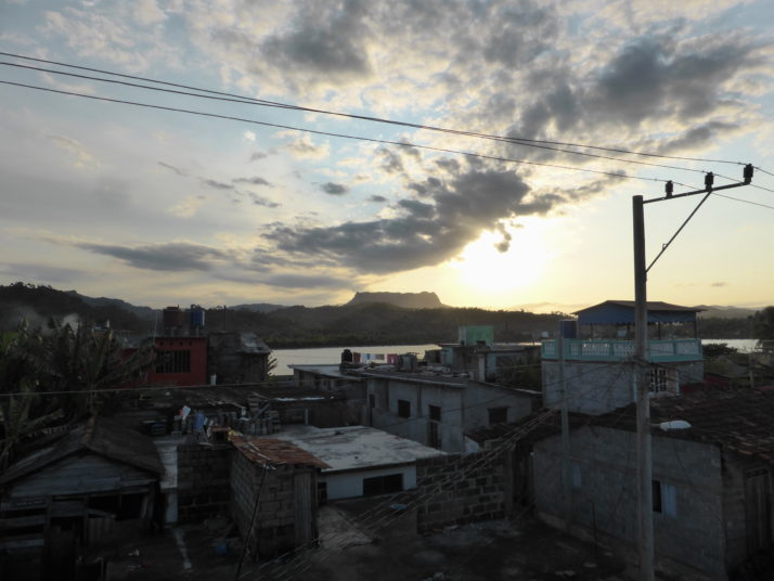 View of El Yunque (the Anvil) over the rooftops of Baracoa