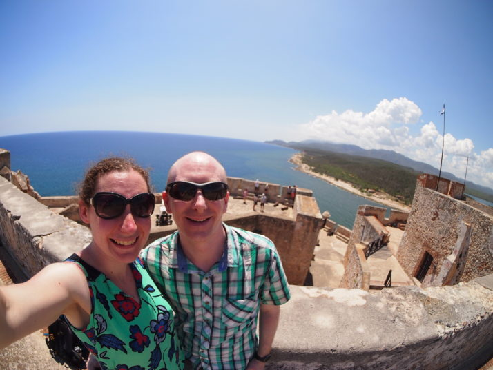 Us at the Castillo del Morro