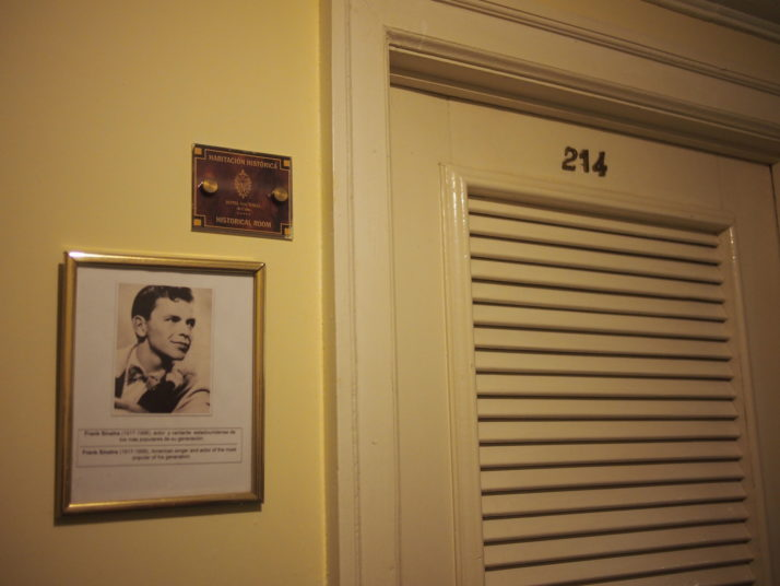 Frank Sinatra's room at the Hotel Nacional de Cuba