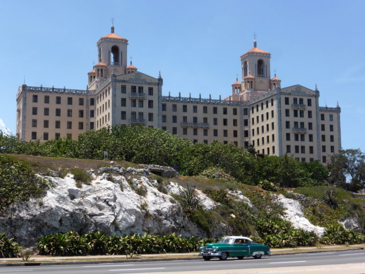 View of the Hotel Nacional from the Malecón in Havana