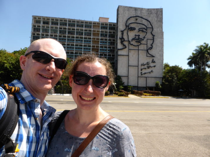 Us in Revolution Square, Havana