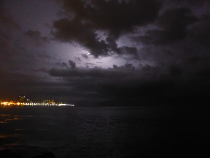 Lightning over Havana's Malecón
