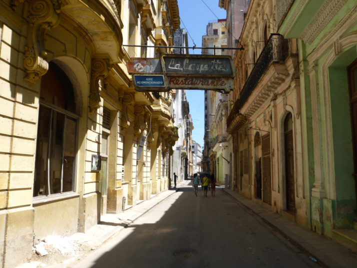 Back street in Havana's Old Town