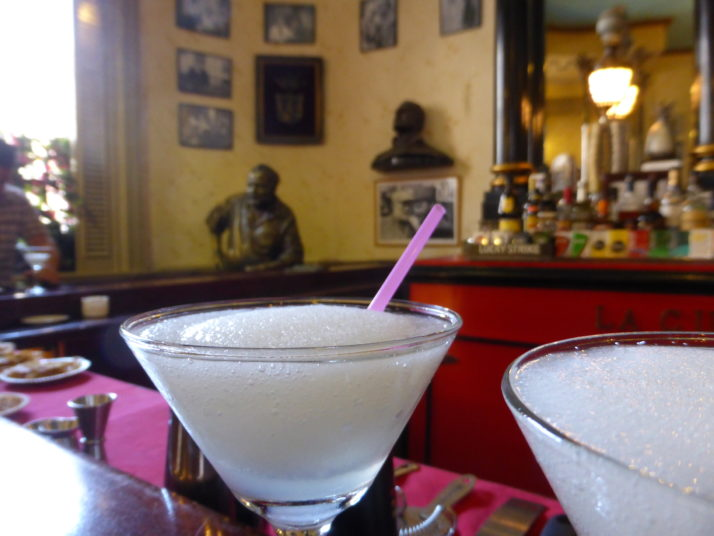 Frozen daiquiri's with Ernest Hemingway in El Floridita, Havana