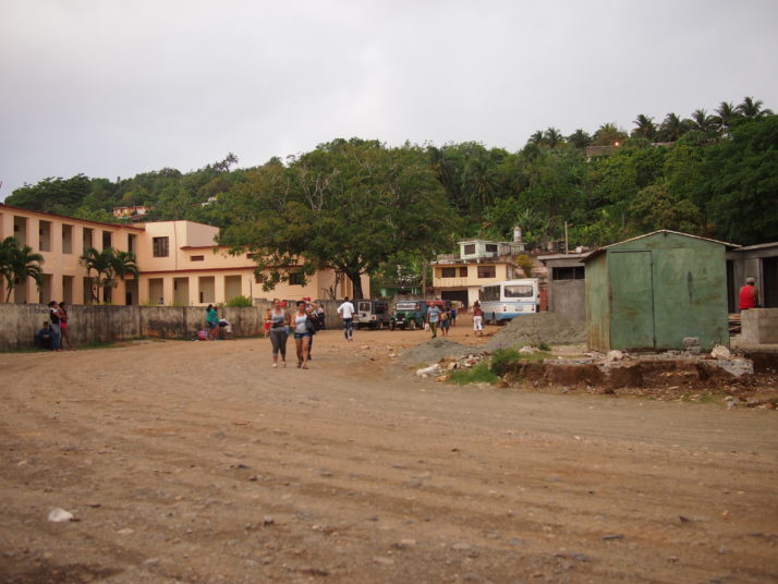 Baracoa local transport yard