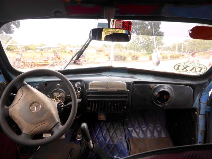 Inside our colectivo taxi