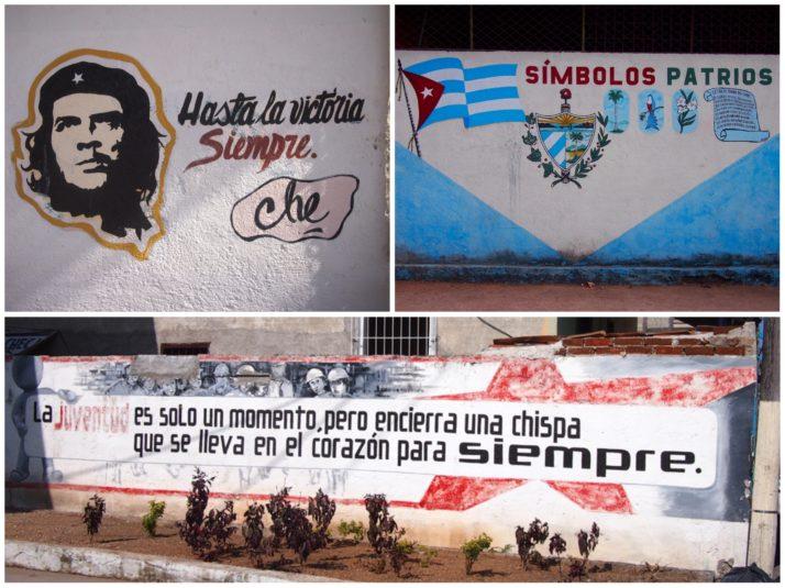 Political murals in Cuba