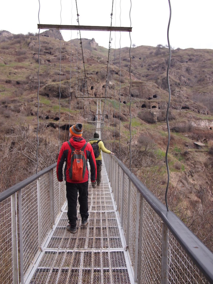 Khndzoresk suspension bridge, Khndzoresk, Armenia