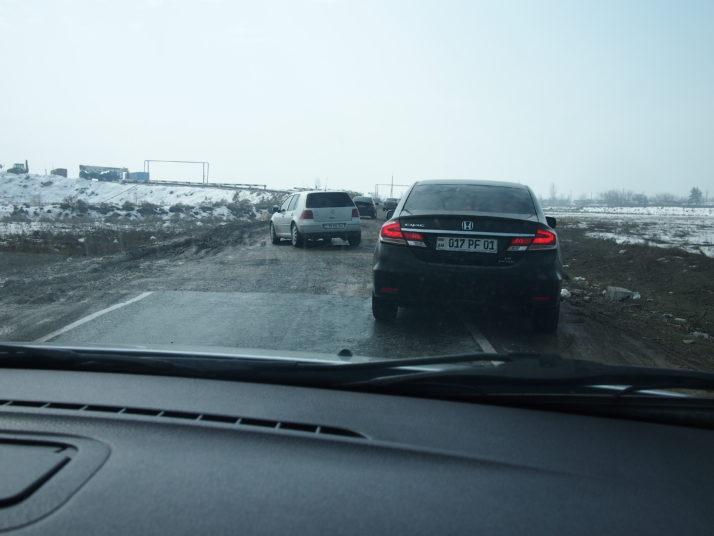 Armenian motorway detour