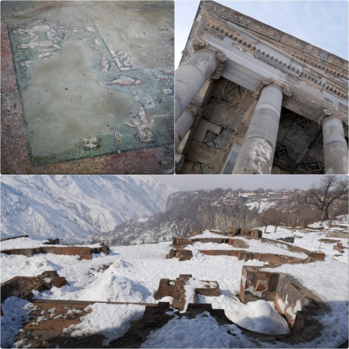 Temple of Garni collage