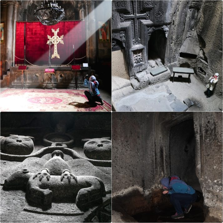 Geghard Monastery collage