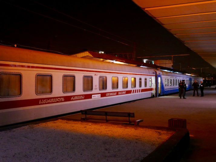 Overnight train to Zugdidi at Tbilisi station