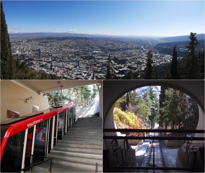 Funicular collage, Tbilisi, Georgia