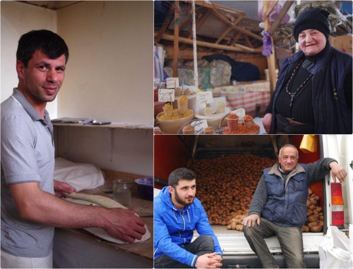 Tbilisi Market Stallholders collage, Georgia