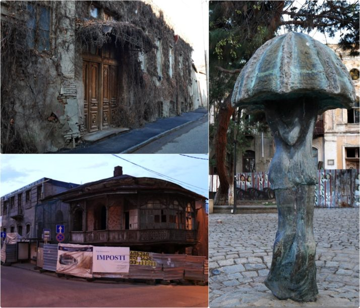 Old Town, Tbilisi, Georgia collage