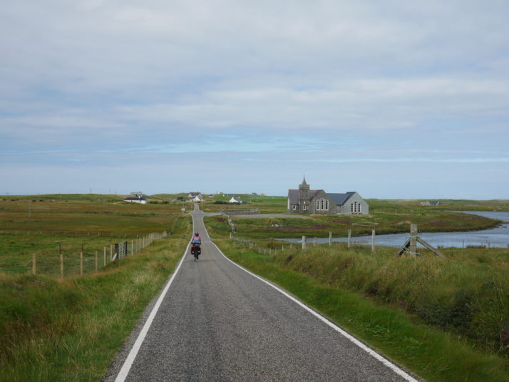 Cycling the gentle roads on North Uist
