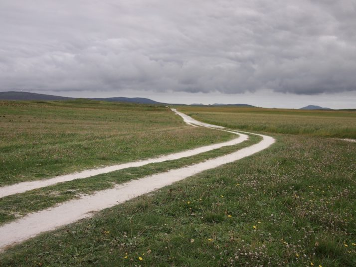 The path through the machair at Balranald Nature reserve