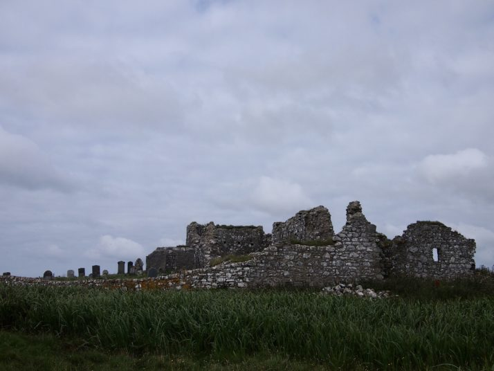 The remains of Trinity Temple in Carinish